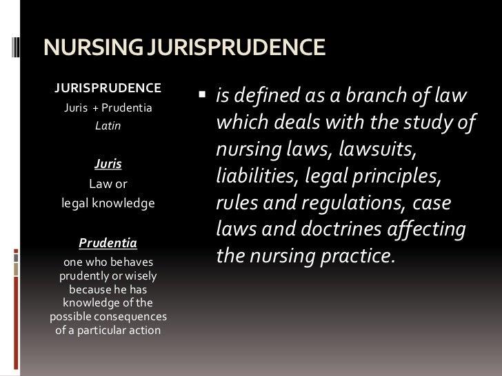nursing jurisprudence essay