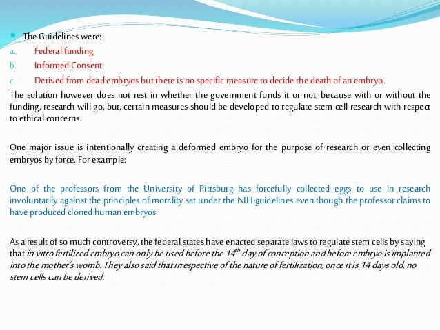 nih stem cell research guidelines