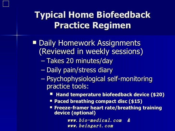 Biofeedback homework clip