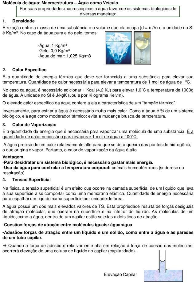 9dc93bb8b85 Biofisica - propriedades fisicas e quimicas da agua