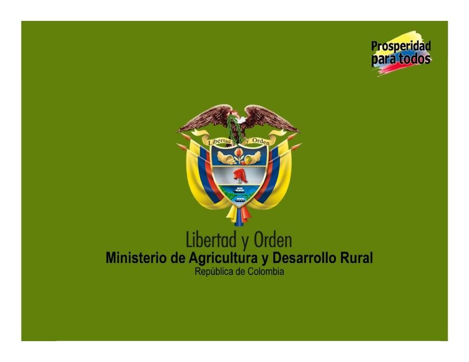 BIOFORTIFICADOS:EXPERIENCIASDE   INVESTIGACIÓNENELSECTOR   AGROPECUARIOCOLOMBIANO     MinisteriodeAgriculturay...
