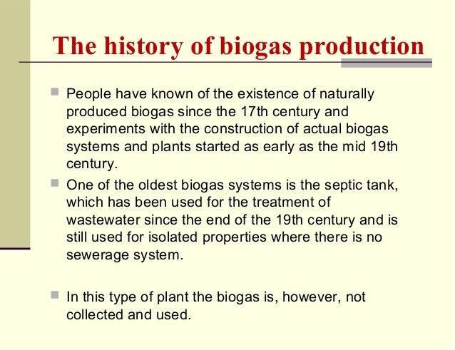 History Of Biogas