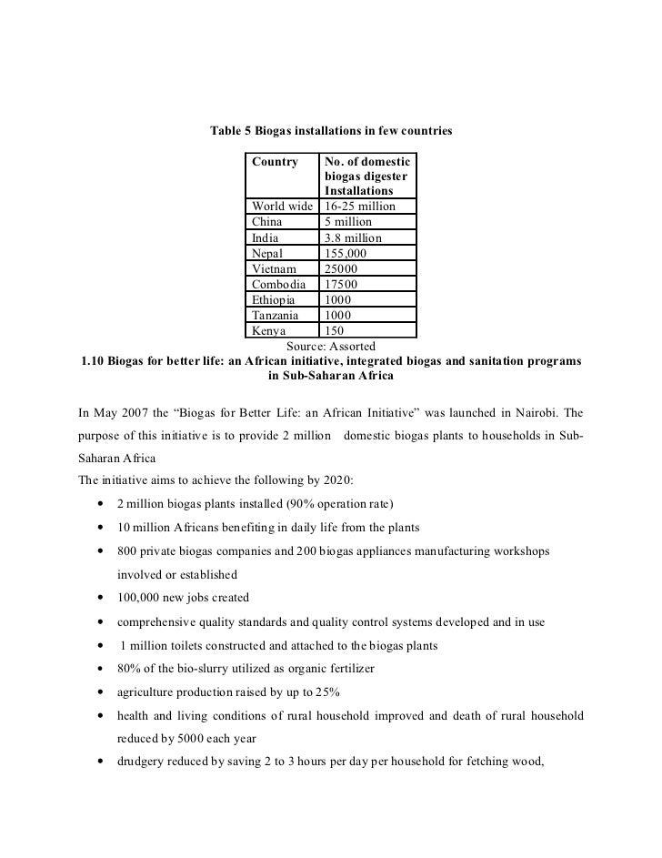 Phd thesis biogas