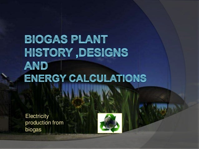 Electricity production from biogas