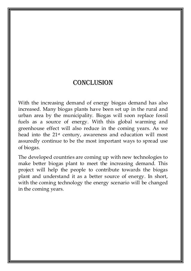 conclusion of energy project