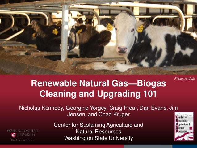 Renewable Natural Gas—Biogas Cleaning and Upgrading 101 Nicholas Kennedy, Georgine Yorgey, Craig Frear, Dan Evans, Jim Jen...
