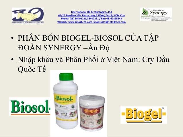 International Oil Technologies., Ltd 65/26 Road No 339, Phuoc Long B Ward, Dist 9, HCM City Phone: (08) 36402221,36402231 ...
