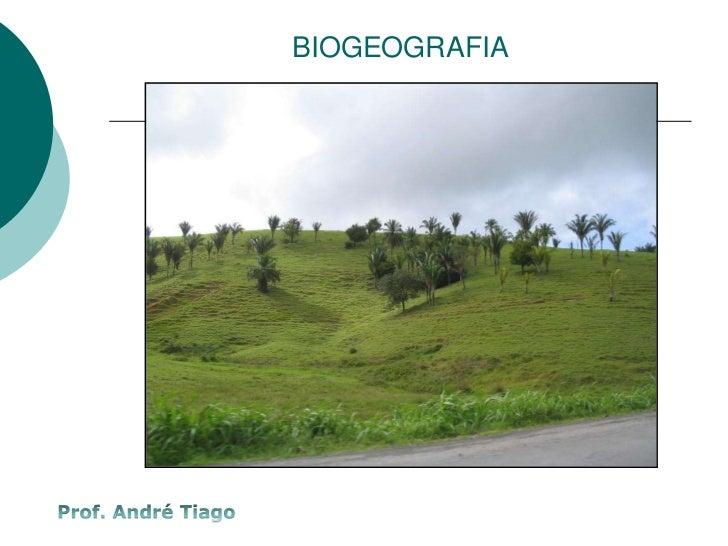BIOGEOGRAFIA<br />Prof. André Tiago<br />