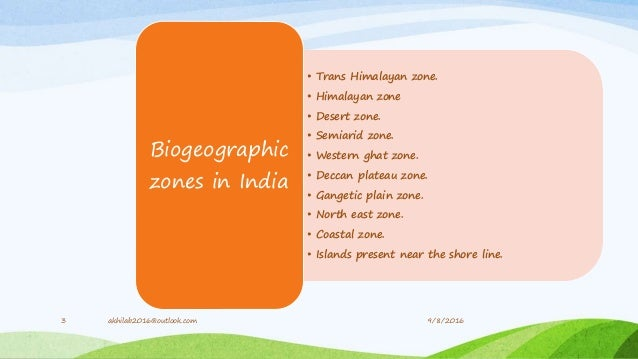 Biogeographic classification of India