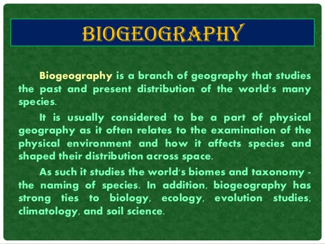 Explainer: what is biogeography? - The Conversation