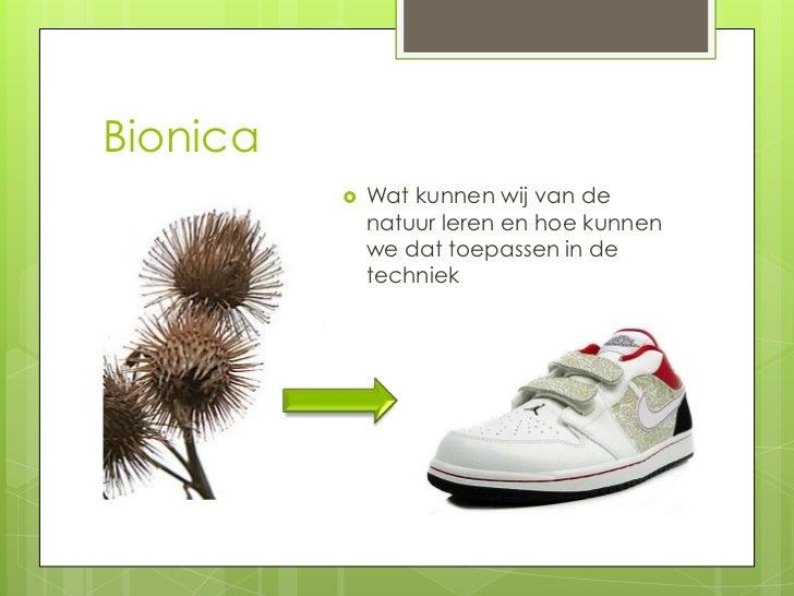 Bionica             Wat kunnen wij van de              natuur leren en hoe kunnen              we dat toepassen in de    ...