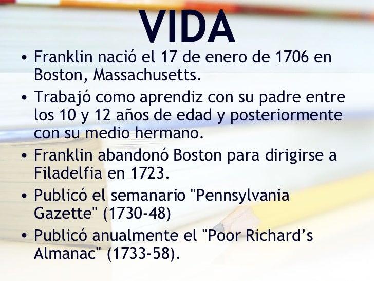 Biografía De Benjamín Franklin