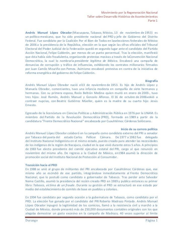 Biografía andrés manuel lópez obrador
