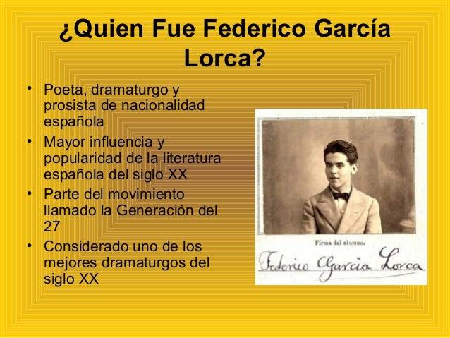 Biografía De Federico Garcia Lorca