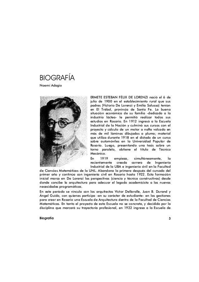 BIOGRAFÍANoemí Adagio                                 ERMETE ESTEBAN FÉLIX DE LORENZI nació el 6 de                       ...