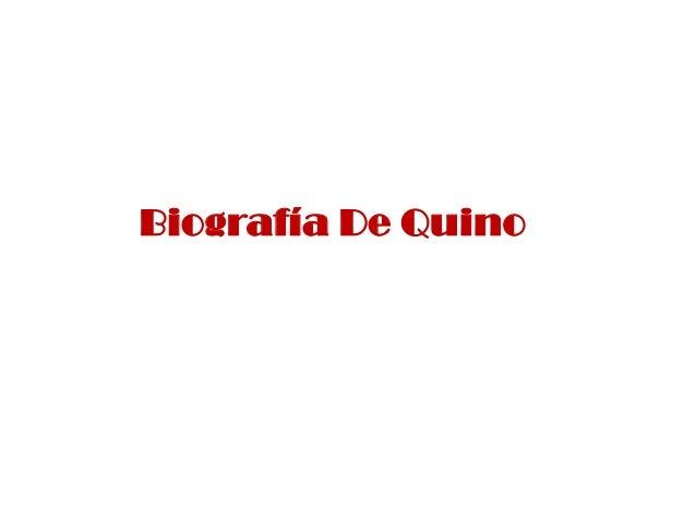 Biografía De Quino