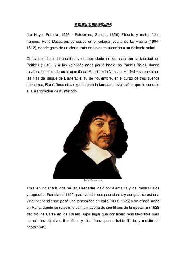 Rene descartes biografia resumida yahoo dating 5