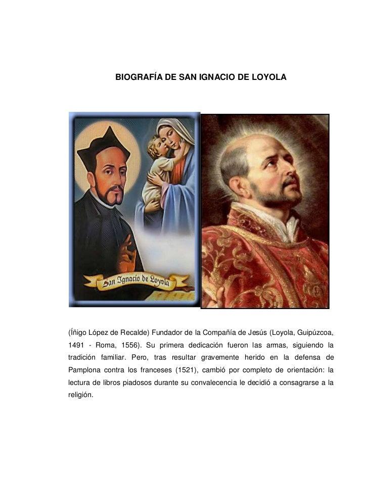12700841375BIOGRAFÍA DE SAN IGNACIO DE LOYOLA<br />-114300396240<br />(Íñigo López de Recalde) Fundador de la Compañía de ...