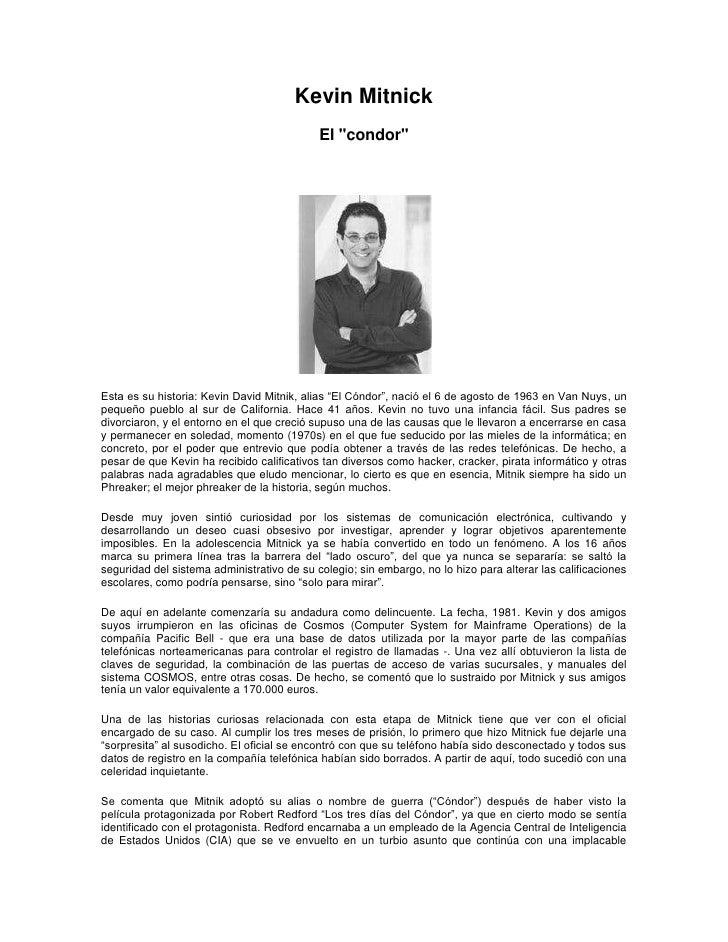 Biografía kevin mitnick
