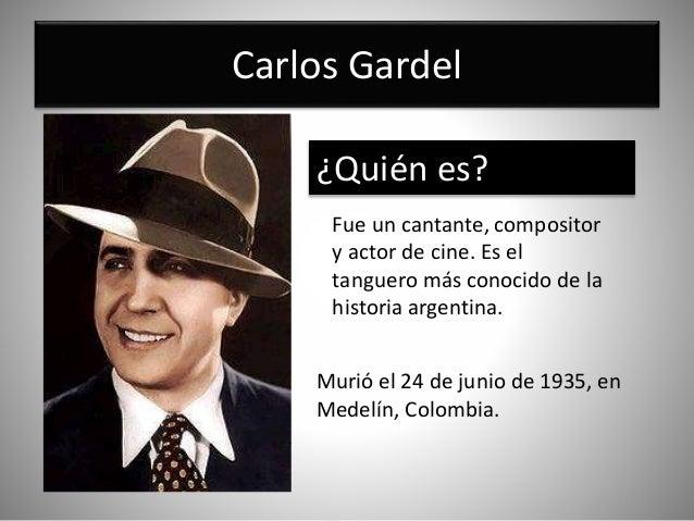 Resultado de imagen para GARDEL MURIO COLOMBIA