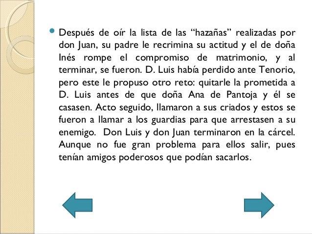 """ Después de oír la lista de las """"hazañas"""" realizadas pordon Juan, su padre le recrimina su actitud y el de doñaInés rompe..."""