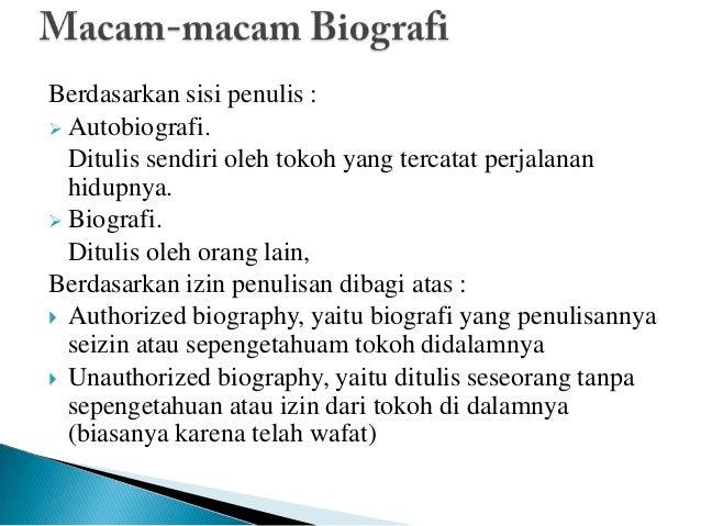 Materi Bahasa Indonesia Biografi