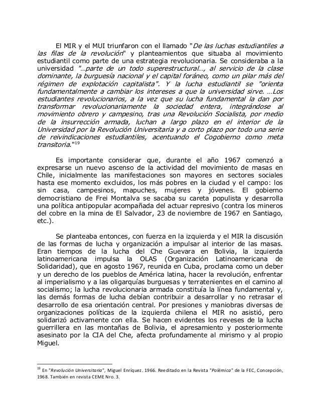 """El MIR y el MUI triunfaron con el llamado """"De las luchas estudiantiles a las filas de la revolución"""" y planteamientos que ..."""