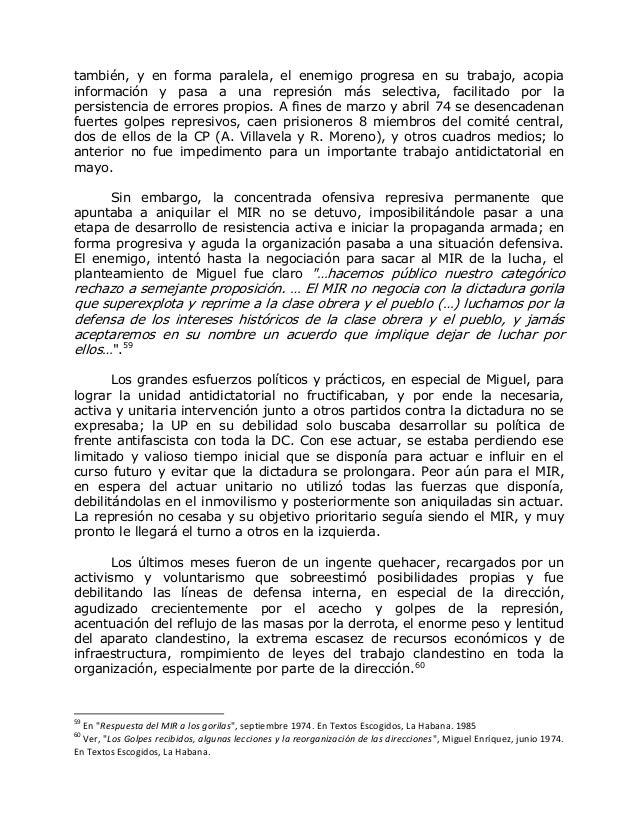 VIDA Y PRAXIS REVOLUCIONARIA DE MIGUEL ENRÍQUEZ ESPINOZA