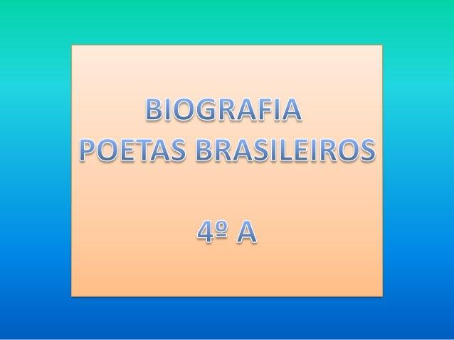Biografia Biografia, obras e estilo literário Este consagrado poeta brasileiro nasceu em Itabira, Minas Gerais no ano de 1...