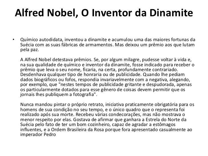 nobel inventor da dinamite