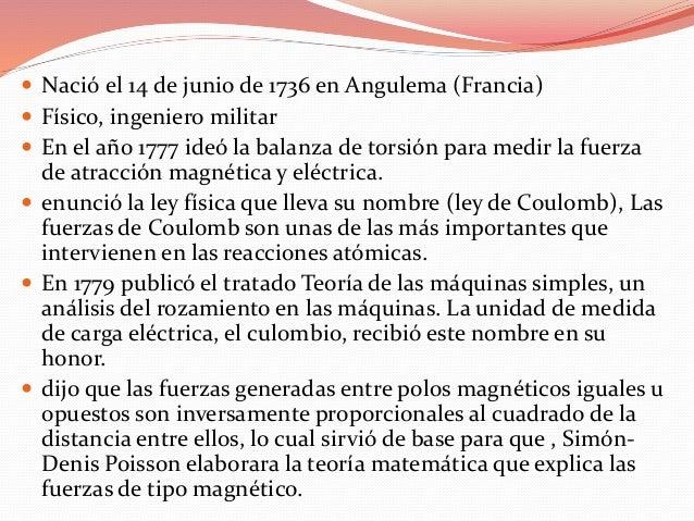 biografia de coulomb y benjamin franklin