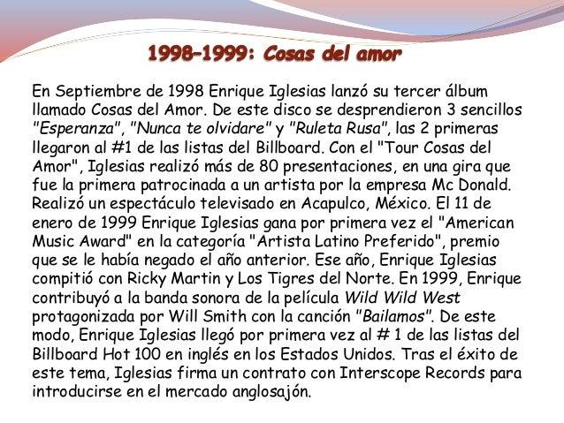 En septiembre de 2002, Iglesias volvió al mercado latino al lanzar su cuarto álbum en español, y el sexto de su carrera Qu...