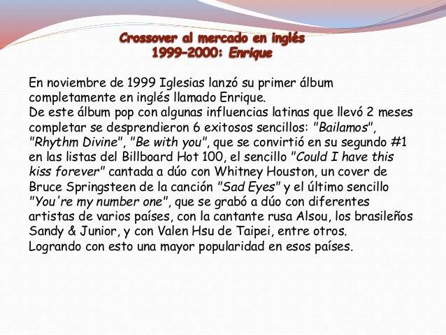 El 12 de junio de 2007 y después de cuatro años sin grabar, Enrique Iglesias lanzó su 4 álbum en inglés y el octavo de su ...