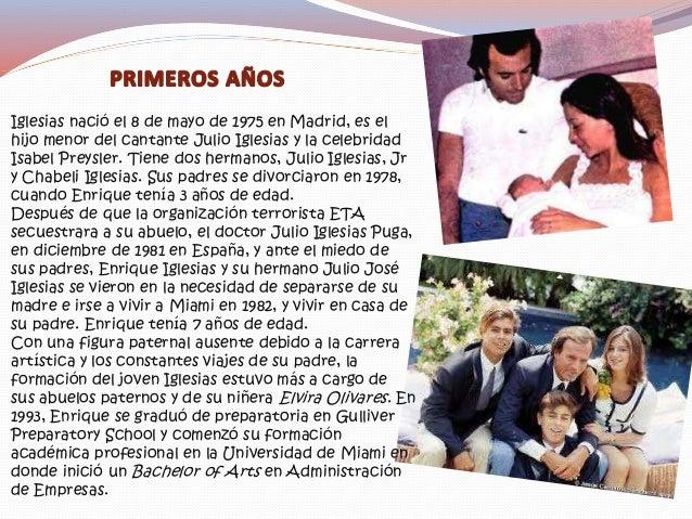 A pesar de que la música formó parte importante de la vida de Enrique Iglesias desde su nacimiento, no fue sino hasta la a...
