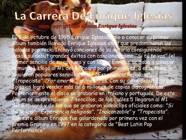 En Septiembre de 1998 Enrique Iglesias lanzó su tercer álbum llamado Cosas del Amor. De este disco se desprendieron 3 senc...