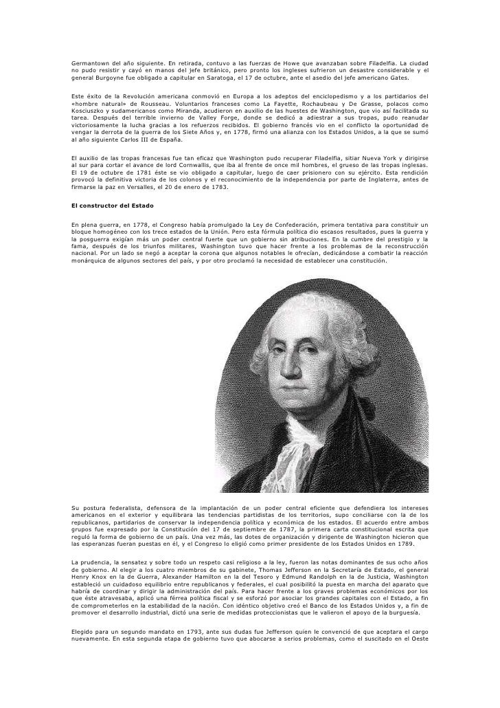 Biografia De Gerge Washington