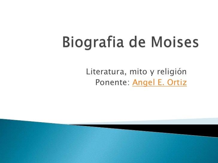 Literatura, mito y religión   Ponente: Angel E. Ortiz