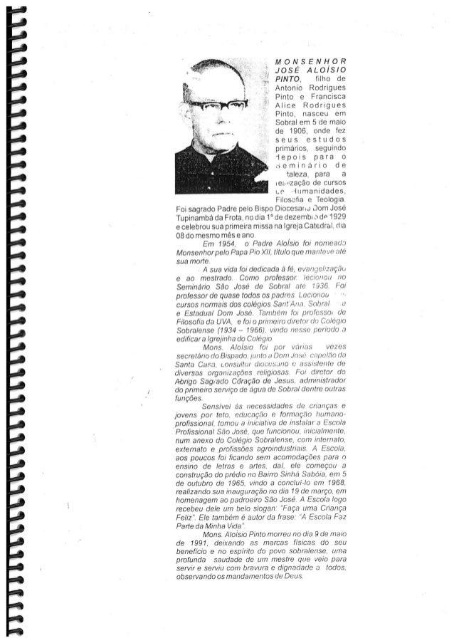 Biografia de Mons. Aloysio Pinto