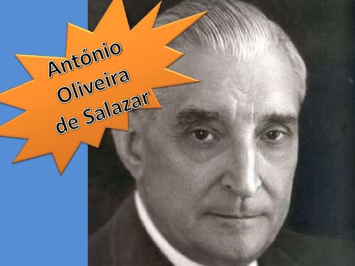 António Oliveira de Salazar<br />