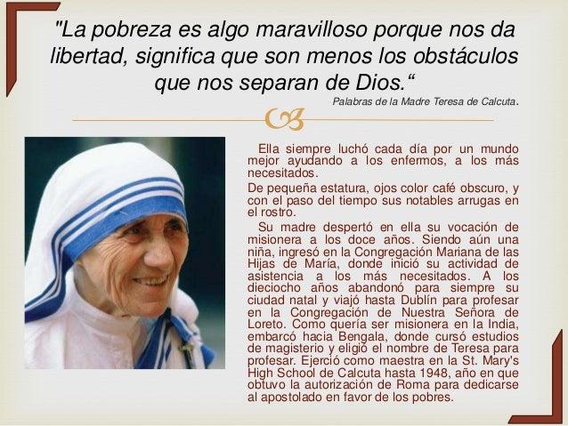 Biografia Madre Teresa De Calcuta Espanol