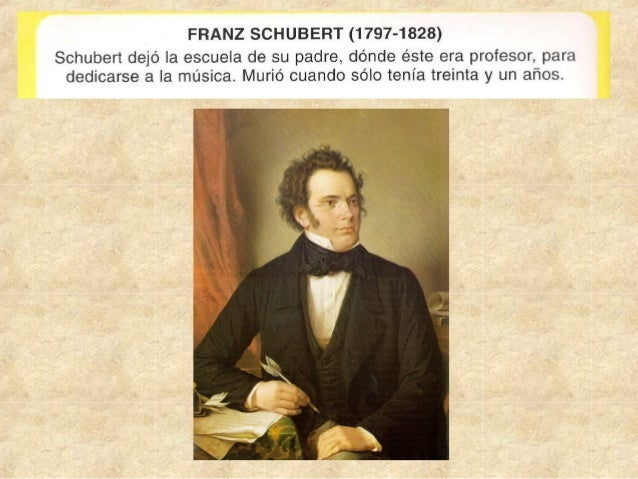 Biografia f. schubert( 1797 1828)