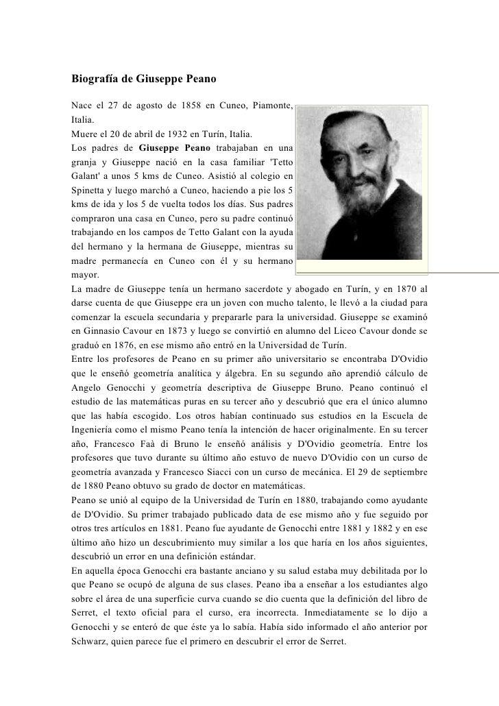 Biografia giuseppe peano - El hombre que cambio su casa por un tulipan ...
