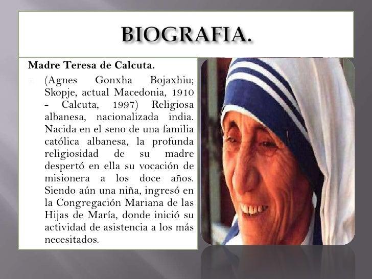 biografia de madre teresa de calcuta madre teresa premio