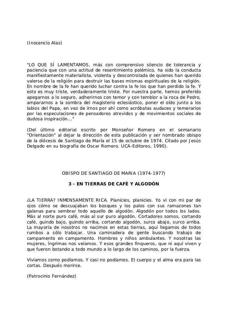 Monseñor Romero, piezas para un retrato - López Vigil