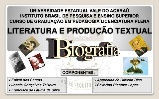 UNIVERSIDADE ESTADUAL VALE DO ACARAÚ  INSTITUTO BRASIL DE PESQUISA E ENSINO SUPERIOR  CURSO DE GRADUAÇÃO EM PEDAGOGIA LICE...