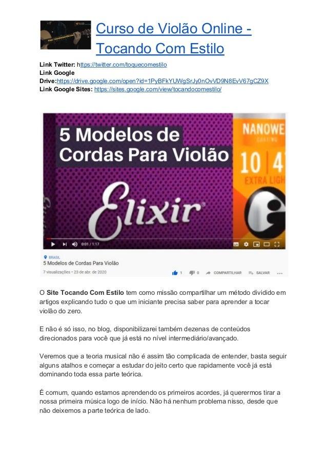 Curso de Violão Online - Tocando Com Estilo Link Twitter: https://twitter.com/toquecomestilo Link Google Drive:https://...