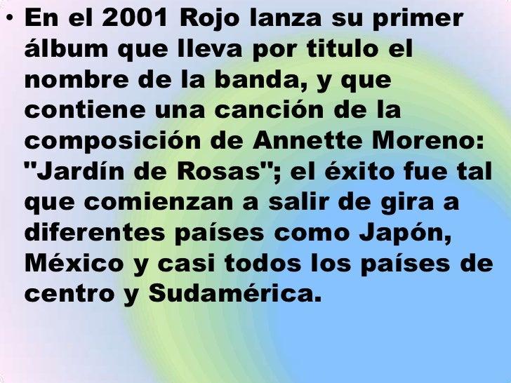Biografia y discografia for Annette moreno jardin de rosas