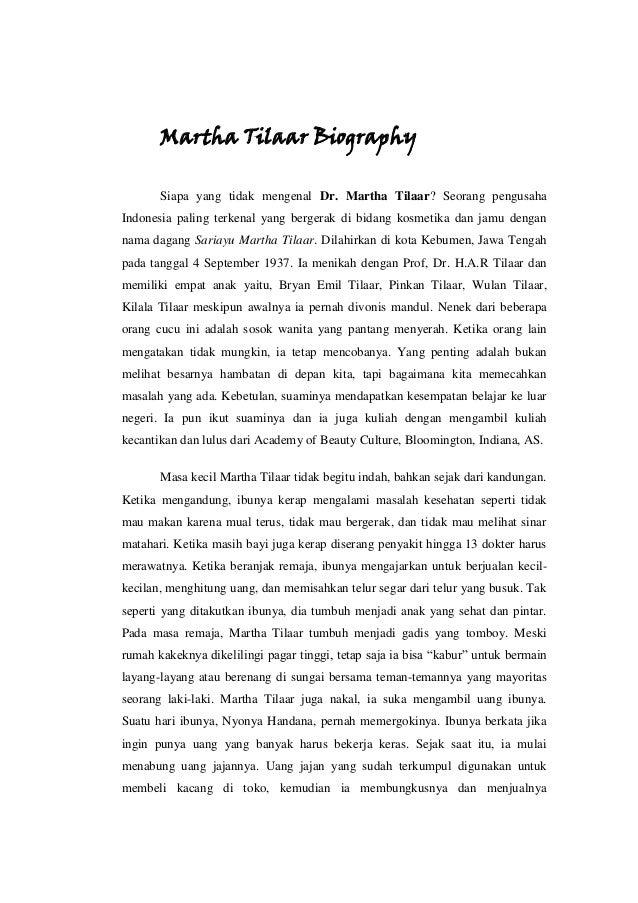 Martha Tilaar Biography Siapa yang tidak mengenal Dr. Martha Tilaar? Seorang pengusaha Indonesia paling terkenal yang berg...