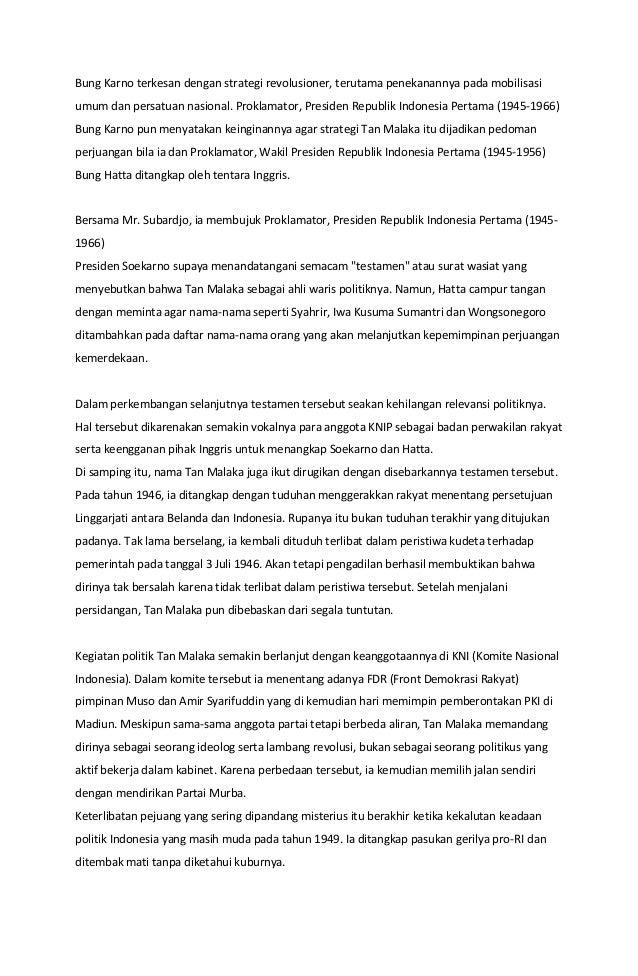 Bung Karno terkesan dengan strategi revolusioner, terutama penekanannya pada mobilisasi umum dan persatuan nasional. Prokl...