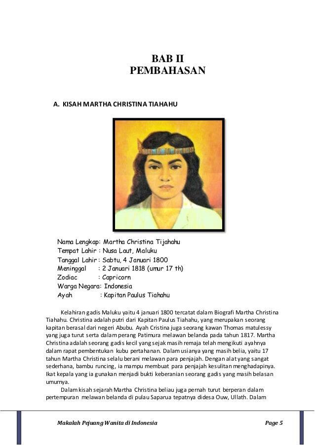 Biografi pejuang wanita